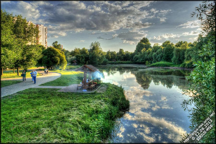 Парк в пойме реки Городня, 12.06.2013